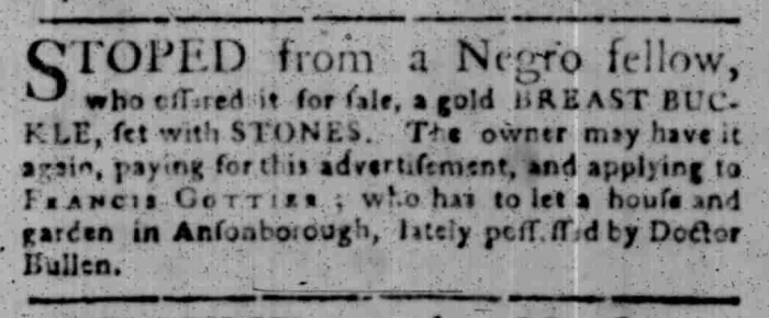 Feb 22 - South Carolina Gazette Slavery 6