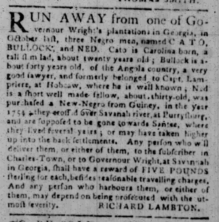 Feb 22 - South Carolina Gazette Slavery 8