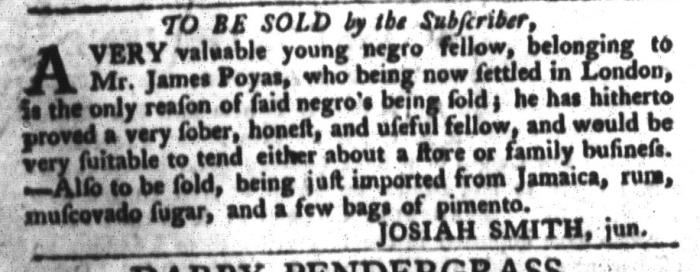 Feb 23 - South-Carolina Gazette and Country Journal Slavery 10