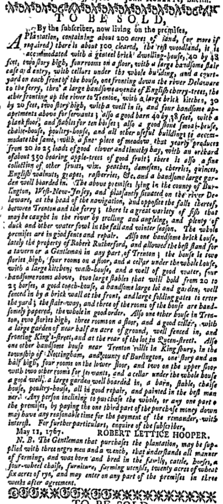Feb 29 - New-York Gazette Weekly Mercury Slavery 1
