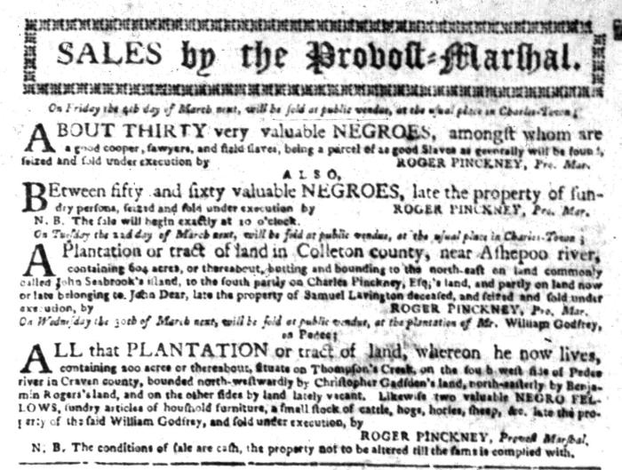 Feb 29 - South Carolina Gazette Slavery 4