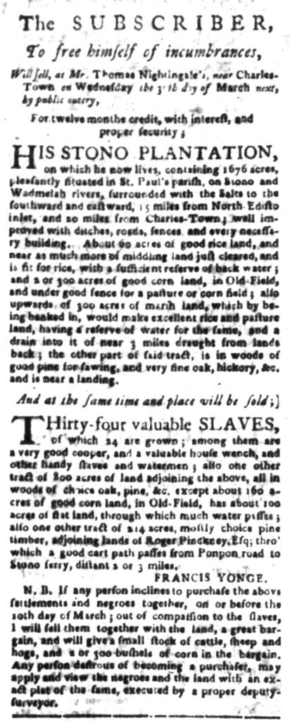 Feb 29 - South Carolina Gazette Slavery 7