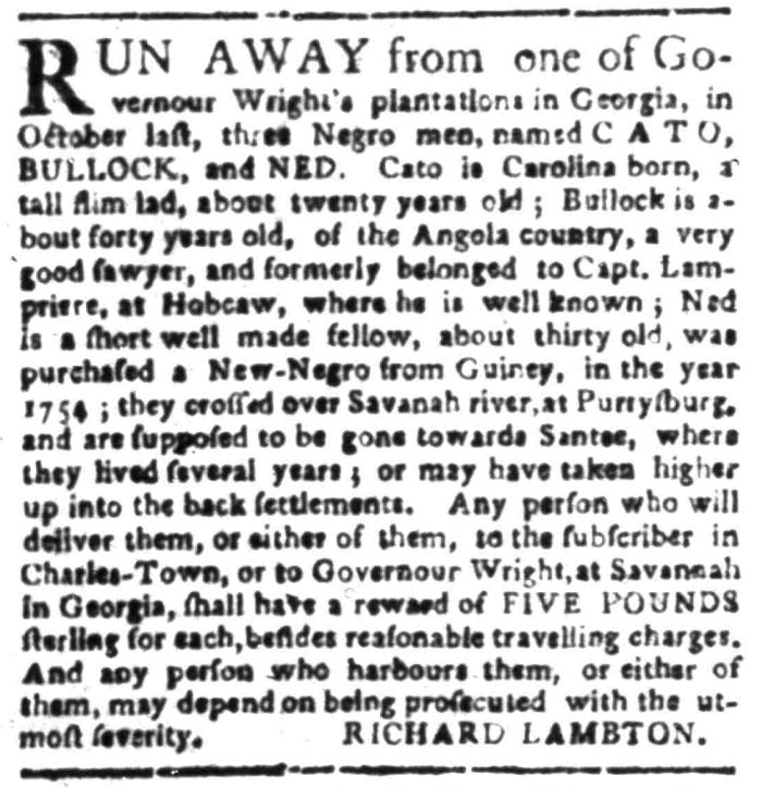 Feb 29 - South Carolina Gazette Supplement Slavery 3