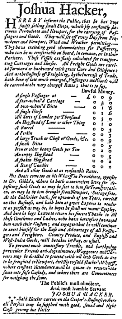 Feb 7 - 2:1:1768 Boston Post-Boy