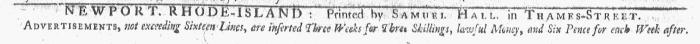 Feb 8 - 2:8:1768 Newport Mercury