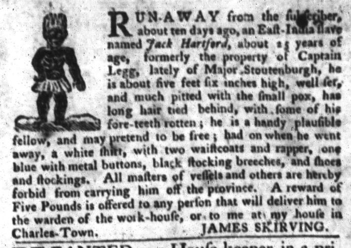 Mar 1 - South-Carolina Gazette and Country Journal Slavery 3