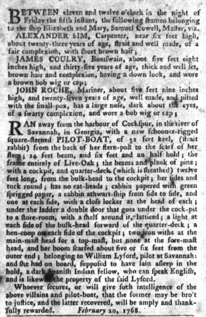 Mar 1 - South-Carolina Gazette and Country Journal Slavery 5