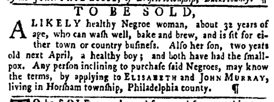 Mar 3 - Pennsylvania Gazette Slavery 1