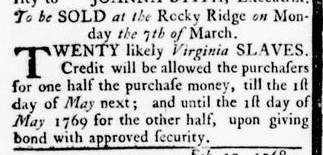 Mar 3 - Virginia Gazette Rind Slavery 5