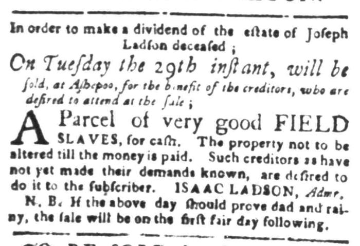 Mar 7 - South Carolina Gazette Slavery 5
