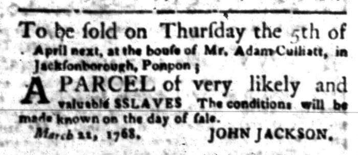 Apr 4 - South Carolina Gazette Slavery 5