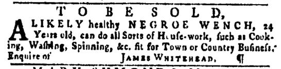 Apr 7 - Pennsylvania Gazette Slavery 1