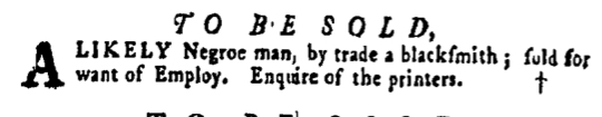 Apr 7 - Pennsylvania Gazette Supplement Slavery 1