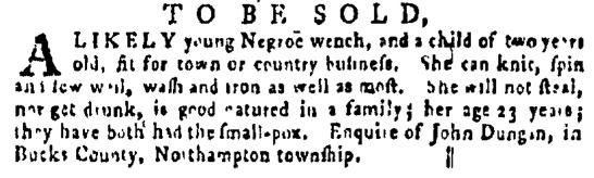 Apr 7 - Pennsylvania Gazette Supplement Slavery 4