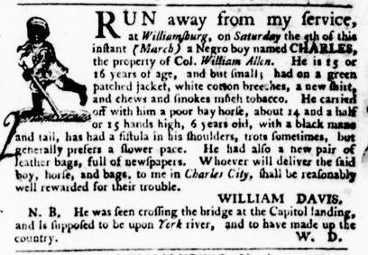 Apr 7 - Virginia Gazette Purdie and Dixon Slavery 3