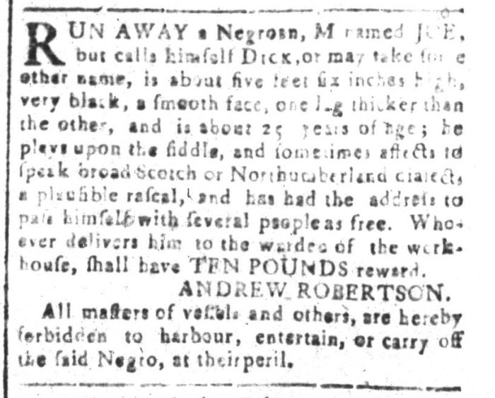 Apr 8 - South-Carolina and American General Gazette Slavery 12