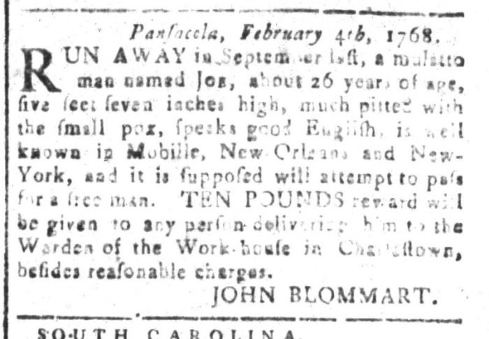 Apr 8 - South-Carolina and American General Gazette Slavery 13
