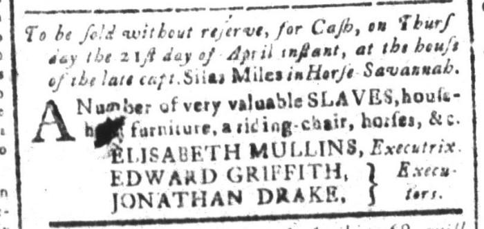 Apr 8 - South-Carolina and American General Gazette Slavery 6