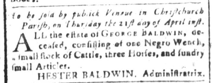 Apr 8 - South-Carolina and American General Gazette Slavery 8