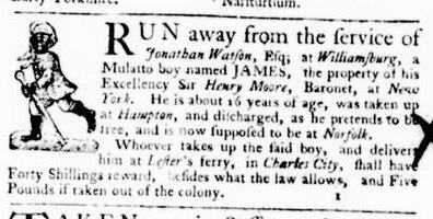 Mar 10 - Virginia Gazette Purdie and Dixon Slavery 2
