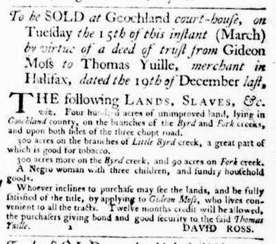 Mar 10 - Virginia Gazette Purdie and Dixon Slavery 5