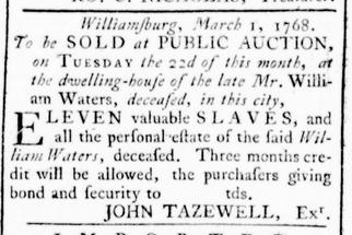 Mar 10 - Virginia Gazette Rind Slavery 3