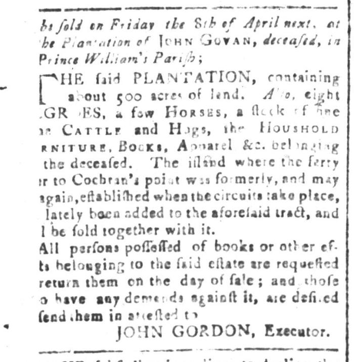 Mar 11 - South-Carolina and American General Gazette Slavery 1