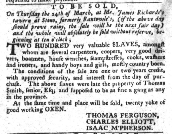 Mar 15 - South-Carolina Gazette and Country Journal Slavery 9