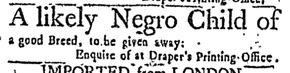 Mar 17 - Massachusetts Gazette Slavery 1