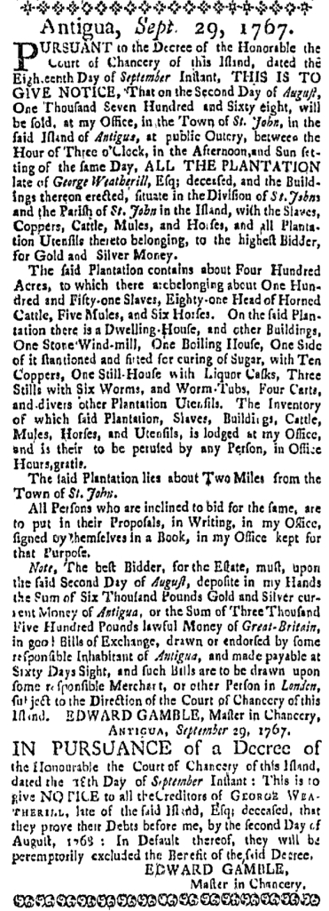 Mar 17 - Massachusetts Gazette Supplement Slavery 2