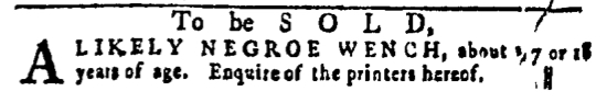 Mar 17 - Pennsylvania Gazette Slavery 3