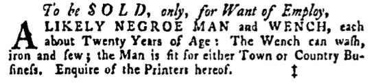 Mar 17 - Pennsylvania Gazette Supplement Slavery 1