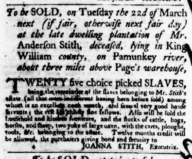 Mar 17 - Virginia Gazette Purdie and Dixon Slavery 5