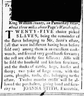 Mar 17 - Virginia Gazette Rind Slavery 4