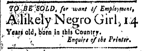 Mar 18 - New-London Gazette Slavery 1