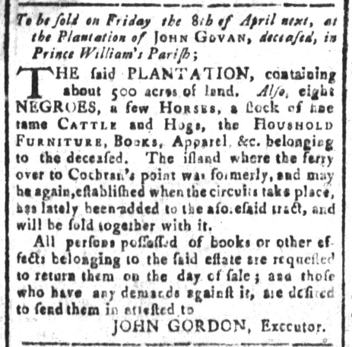 Mar 18 - South-Carolina and American General Gazette Slavery 12