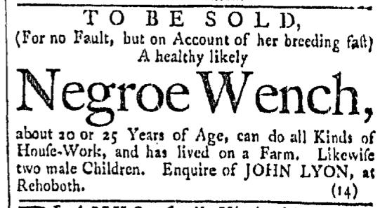 Mar 19 - Providence Gazette Slavery 1