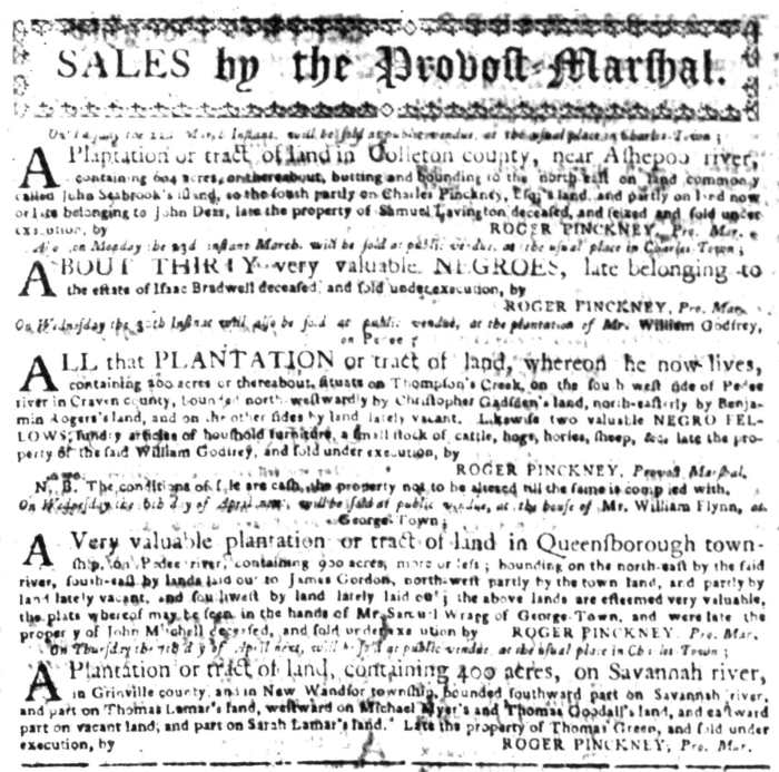Mar 21 - South Carolina Gazette Slavery 3