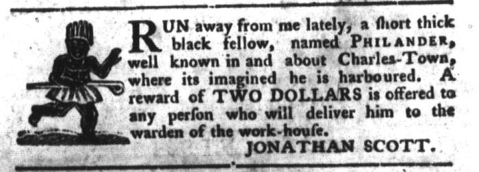 Mar 22 - South-Carolina Gazette and Country Journal Slavery 14
