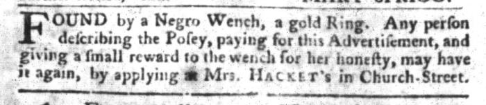 Mar 22 - South-Carolina Gazette and Country Journal Slavery 4