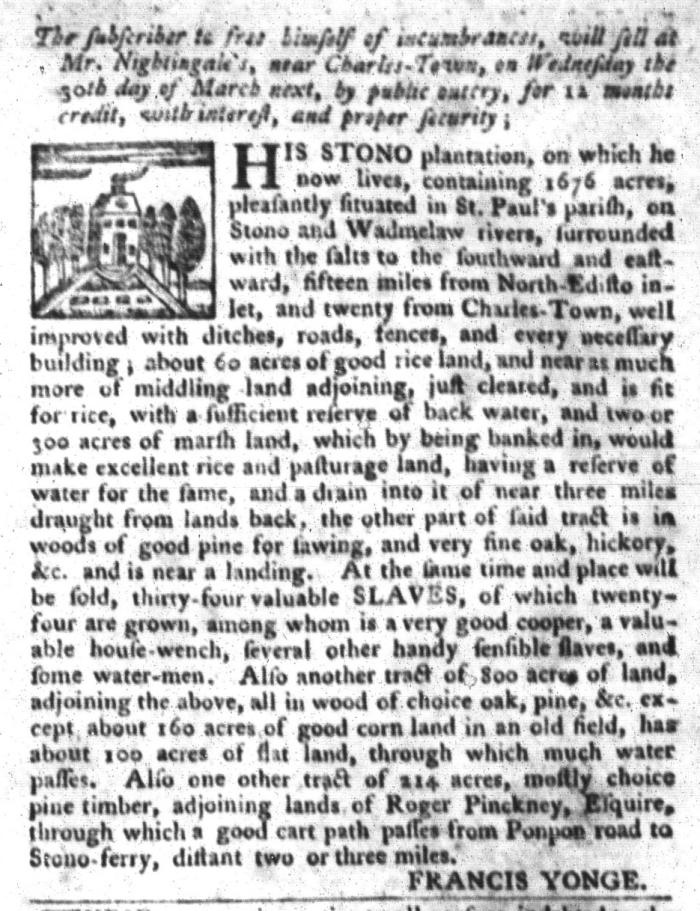 Mar 22 - South-Carolina Gazette and Country Journal Slavery 6