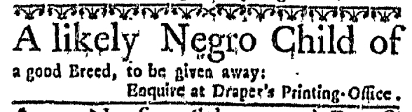 Mar 24 - Massachusetts Gazette Slavery 1