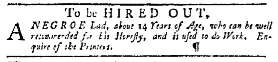 Mar 24 - Pennsylvania Gazette Slavery 2