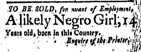 Mar 25 - New-London Gazette Slavery 1
