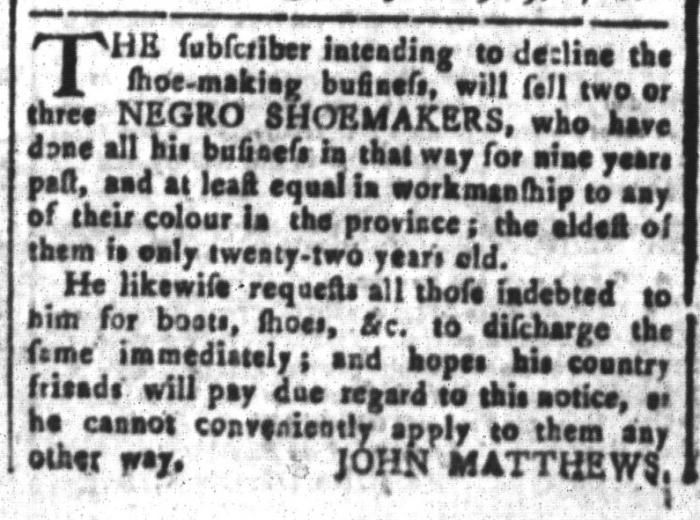 Mar 25 - South-Carolina and American General Gazette Slavery 10