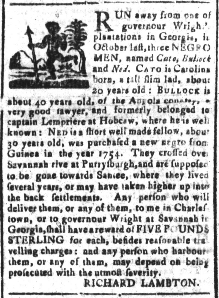 Mar 25 - South-Carolina and American General Gazette Slavery 3