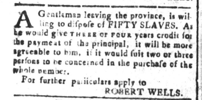 Mar 25 - South-Carolina and American General Gazette Slavery 8