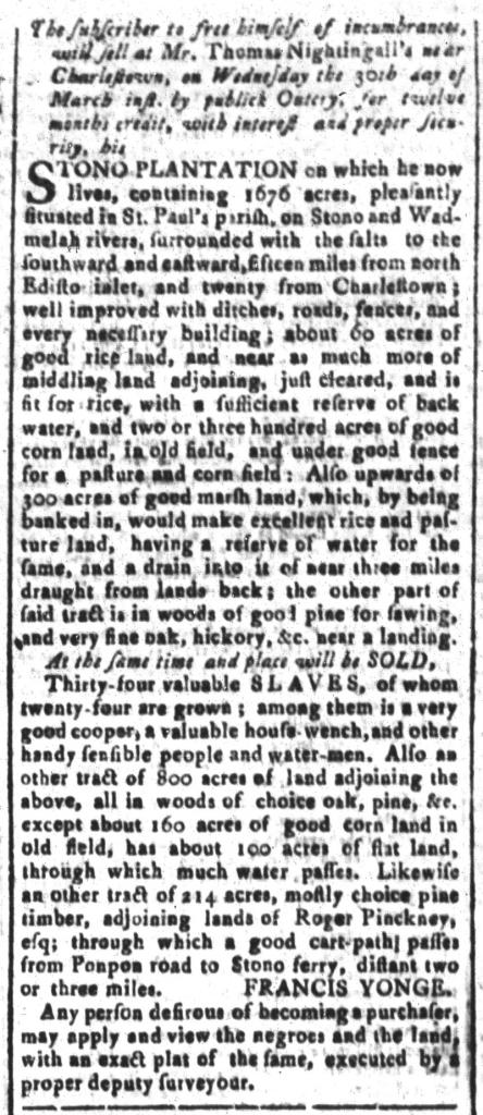 Mar 25 - South-Carolina and American General Gazette Slavery 9
