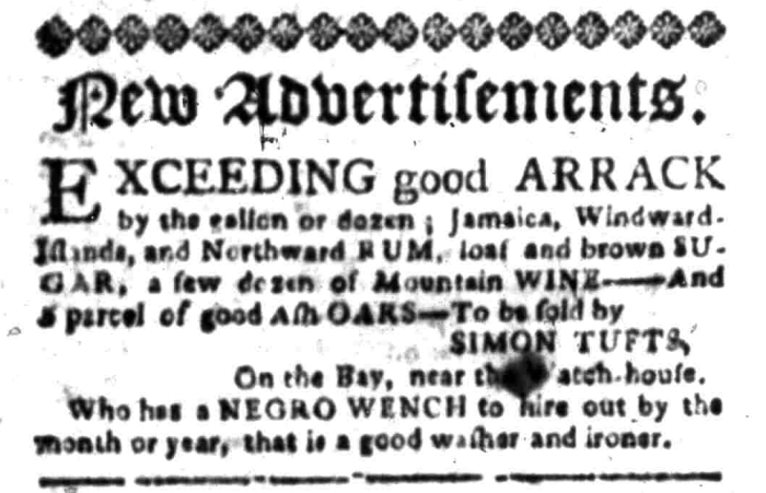 Mar 28 - South Carolina Gazette Slavery 1
