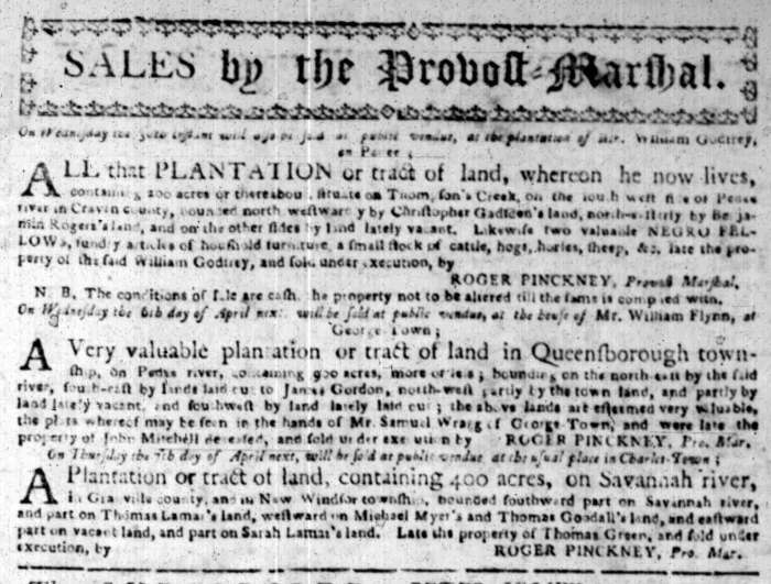 Mar 28 - South Carolina Gazette Slavery 4